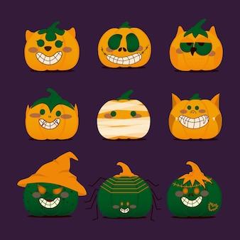 Conception de personnage de citrouille d'halloween