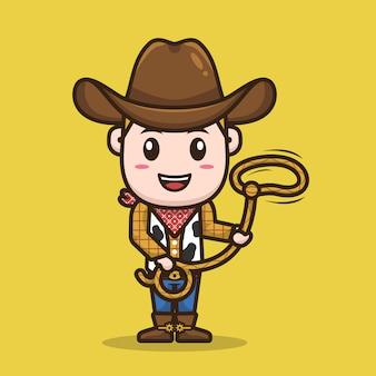 Conception de personnage de cow-boy