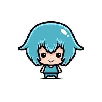 Conception de personnage mignon chibi