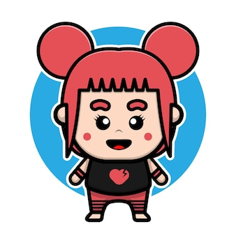 Conception de personnage mignon emo girl