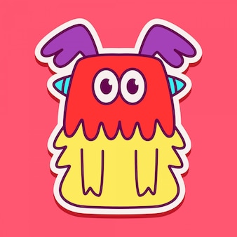 Conception de personnage de monstre mignon