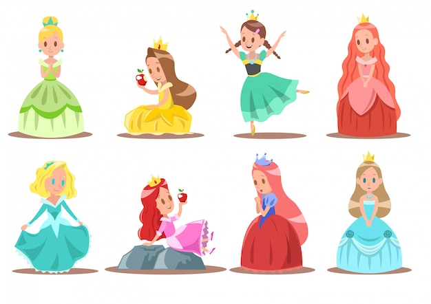 Conception de personnage de princesse