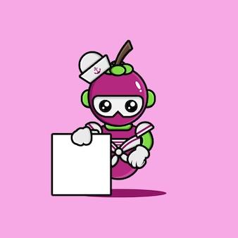 La conception des personnages du robot marin mangoustan