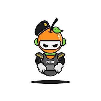 La conception des personnages du robot de police orange