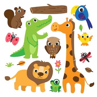 Conception des personnages tête d'animaux
