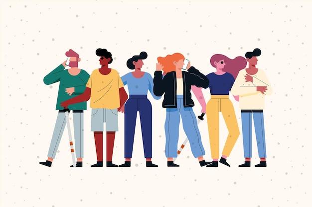 Conception de personnes de diversité