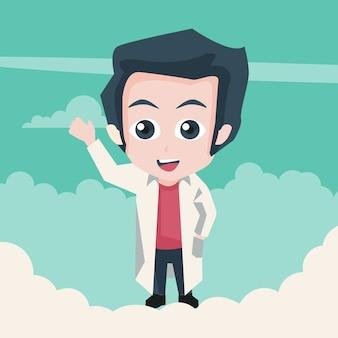 Conception de petit docteur dans le ciel