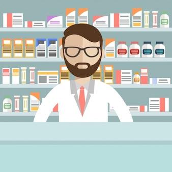 La conception de pharmacie de fond