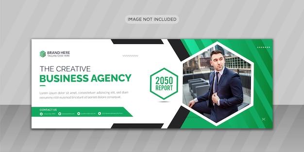 Conception de photo de couverture facebook d'entreprise ou conception de bannière web
