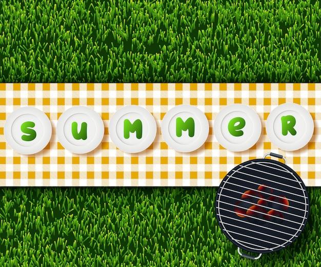 Conception de pique-nique d'été