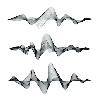 Conception de piste d'ondes sonores. ensemble d'ondes audio. égaliseur abstrait.