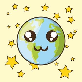Conception de la planète kawaii