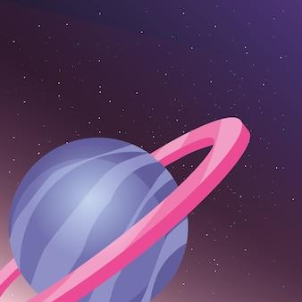 Conception de planète saturn