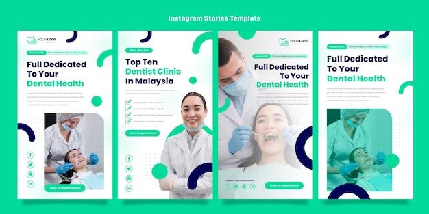 Conception à plat d'histoires médicales instagram