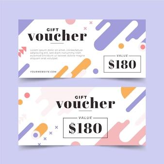 Conception plate de bannières de chèque-cadeau