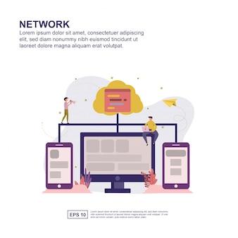 Conception plate de concept de réseau pour la présentation.