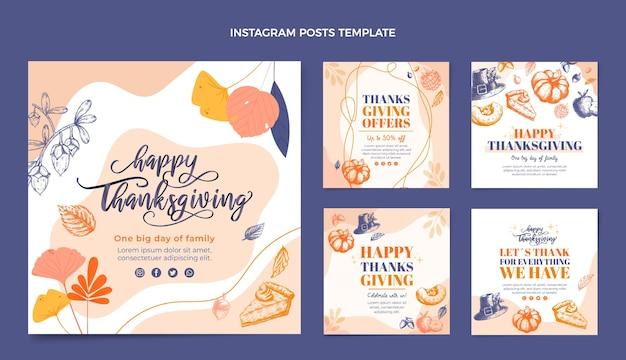 Conception plate dessinée à la main thanksgiving ig post
