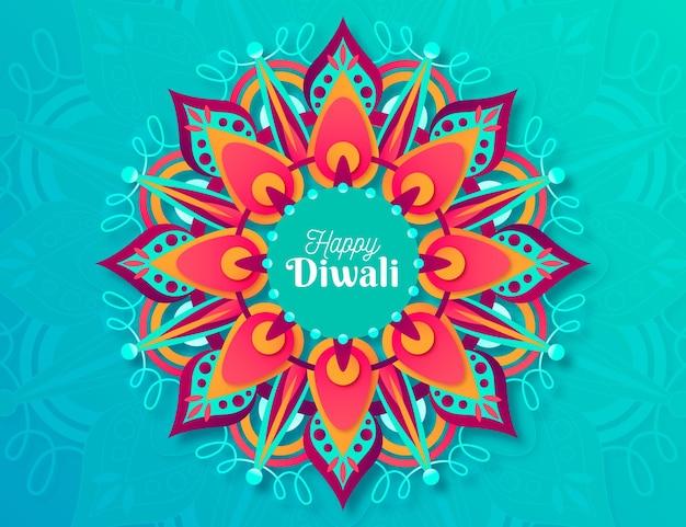 Conception plate d'événement traditionnel de diwali