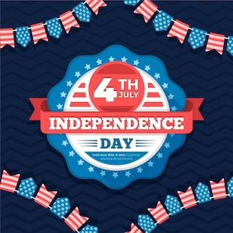 Conception plate de la fête de l'indépendance