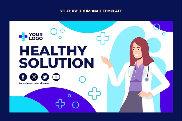Conception plate de la vignette youtube médicale