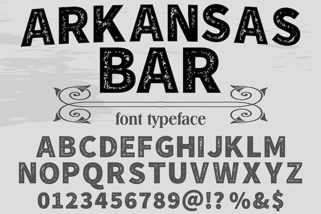Conception de polices alphabet bar arkansas