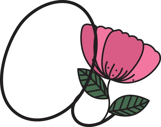 Conception de polices en forme de fleurs convient pour la création de logos ou utilisée pour enseigner aux enfants