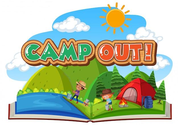 Conception de polices pour camper avec tente dans le parc