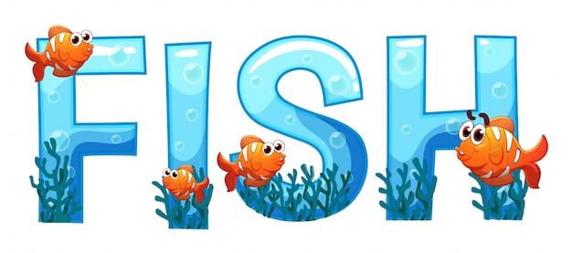 Conception de polices pour mot poisson