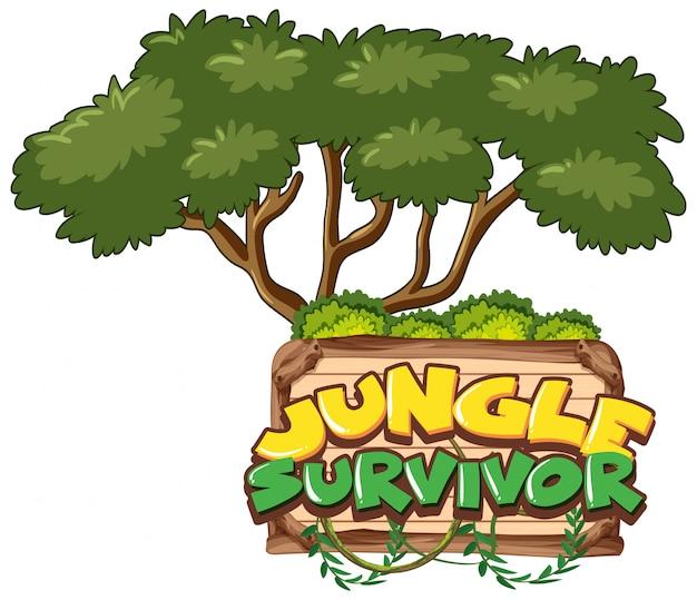 Conception de polices pour le survivant de la jungle des mots le fond du grand arbre