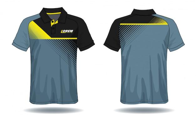 Conception de polo t-shirt, modèle de maillot de sport.