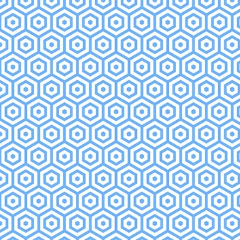Conception Polygonale Blue Patern Vecteur gratuit
