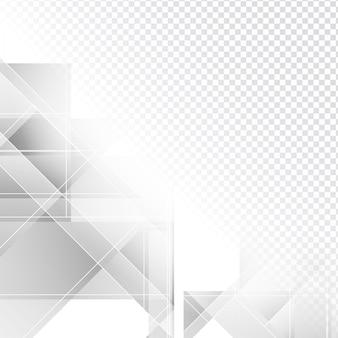 Conception polygonale gris élégant sur fond transparent