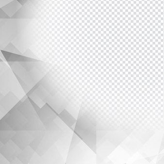 Conception polygonale gris sur fond transparent