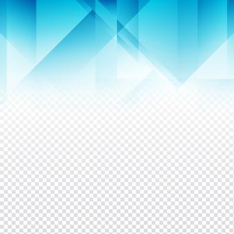 Conception de polygone bleu sur fond transparent