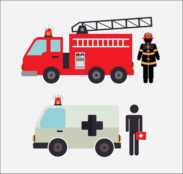 Conception de pompier