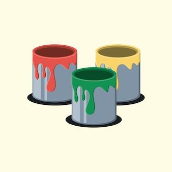 Conception de pots de peinture