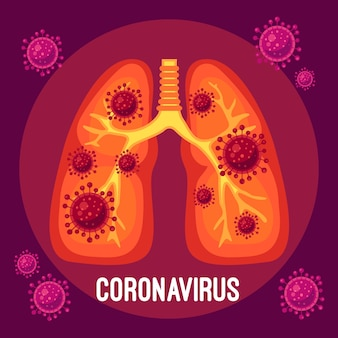 Conception de poumons concept coronavirus