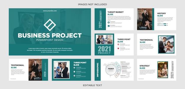 Conception powerpoint de projet d'entreprise