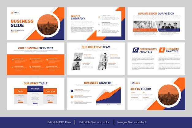 Conception de présentation de diapositive powerpoint d'entreprise