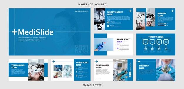 Conception de présentation de diapositives médicales