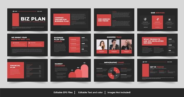 Conception de présentation de plan d'affaires ou présentation de plan d'affaires conception powerpoint
