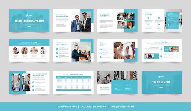 Conception de présentation de plan d'affaires