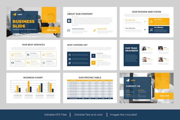 Conception de présentation powerpoint de diapositive d'entreprise