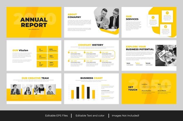 Conception de la présentation powerpoint du rapport annuel