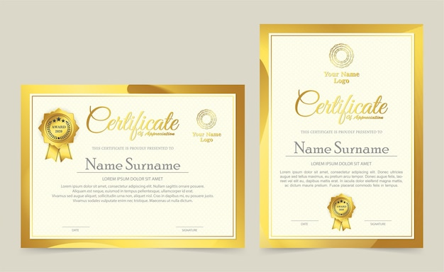 Conception de prix de diplôme de modèle de certificat professionnel