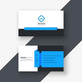 Conception professionnelle de carte de visite bleue géométrique