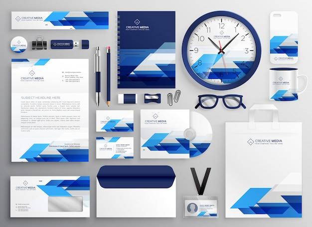Conception professionnelle de papeterie d'affaires moderne pour votre identité de marque