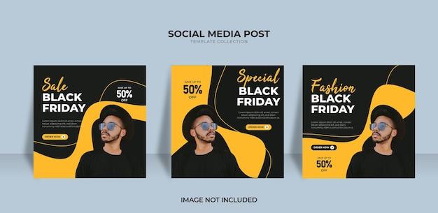 Conception de promotion de vente du vendredi noir pour les médias sociaux