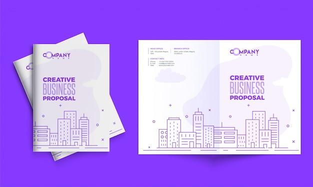 Conception de proposition commerciale créative, mise en page de modèle corporatif