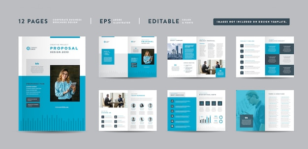 Conception de proposition de projet d'entreprise | rapport annuel et brochure d'entreprise | conception de livrets et de catalogues